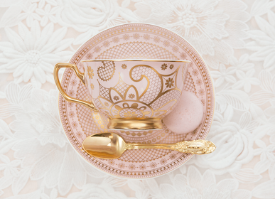 Gift - Georgia Lace Blush Teacup & Saucer - CRISTINA RE