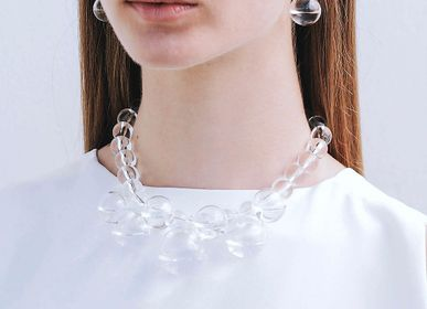 Jewelry - Droplets Statement Necklace Slow Fashion Eco-Luxury - LAJEWEL