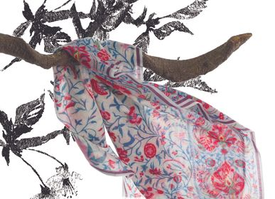 Scarves - STALE PRINTED on wool cheesecloth - SUPPLEMENT D'AM / ÉTOLES ET SACS
