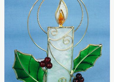 Christmas decoration - mother-of-pearl tealight holders - LA COMMANDERIE