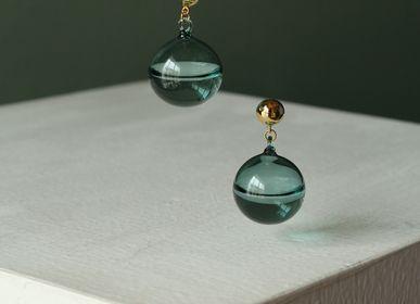 Guirlandes et boules de Noël - Dernières gouttes d'eau boucles d'oreilles en vert jade - LAJEWEL