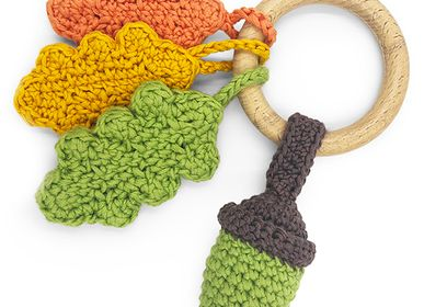 Toys - AUTUMN - TEETHER & RATTLE 100% ORGANIC COTON - MYUM - THE VEGGY TOYS