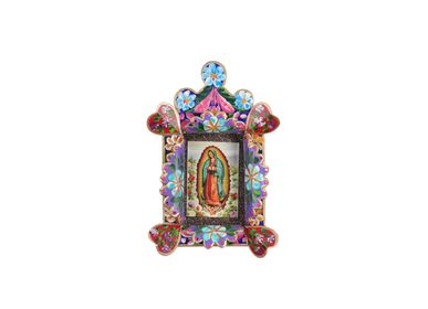 Other wall decoration - Decorative Special Flower Guadalupe Frame - PINK PAMPAS