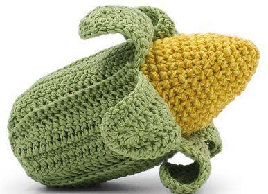 Toys - CORNELIUS CORN - BABY RATTLE 100% ORGANIC COTON - MYUM - THE VEGGY TOYS