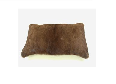 Cushions - cushion; mink/back cashmere; nature; caramel; 50x30 cm - KATRIN LEUZE -COLLECTION-