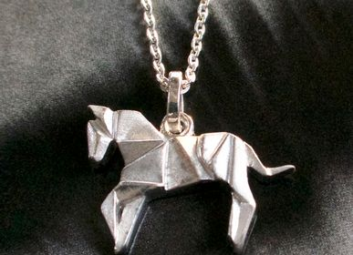 Jewelry - Horse Origami pendent with chain - BYNEBULINE
