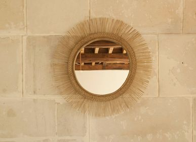 Mirrors - Rattan Sun Mirror, Malawi - AS'ART A SENSE OF CRAFTS