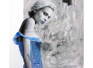 "Tableaux - Tableau collection Portrait ""Hanna"" - ESTUDIO ANGELES ORIGINAL PAINTING S.L"