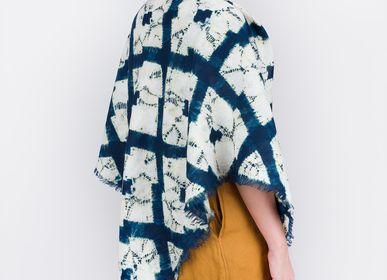 Scarves - Linen Shawl - Crests - SLOWSTITCH STUDIO