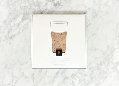 Mugs - Cork leather sleeve in Natural & Silver, for Cupalors 400ml/14oz - CUPALORS