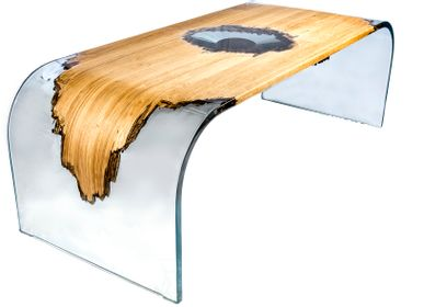 Dining Tables - Wood and Resin Table - MEUBLES THOURET