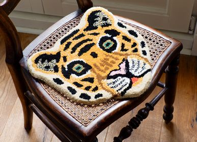 Decorative objects - Cloudy Tiger Head Rug - DOING GOODS