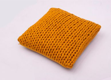 Cushions - KNITTED HANDMADE CUSHION - KANODIA GLOBAL (P) LTD