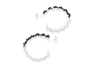 Jewelry - BO lace hoop earrings black - YAY PARIS