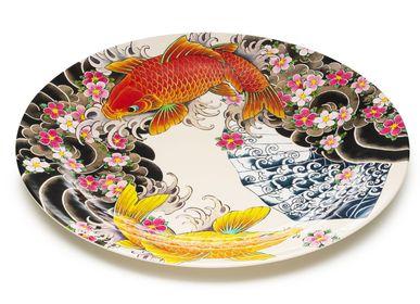 Bowls - Set of 4 melamine platters and wall decorations Tatoo-age - PALAIS ROYAL