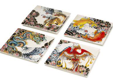 Decorative objects - Set of 4 porcelain platters  Tatoo-age - PALAIS ROYAL