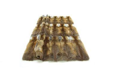 Throw blankets - plaid; fox fur full fur; nature; redbrown; 140x200cm - KATRIN LEUZE -COLLECTION-