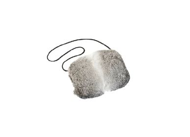 Bags / totes - muff; rabbit fur; nature; grey nature; -  - KATRIN LEUZE -COLLECTION-