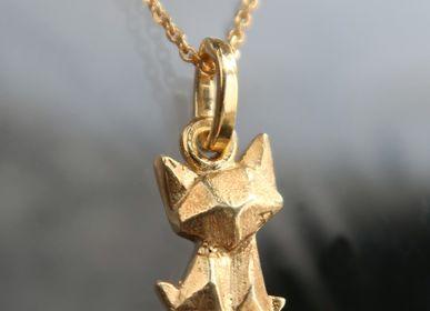Jewelry - Origami gold cat necklace from byNebuline jewels - BYNEBULINE