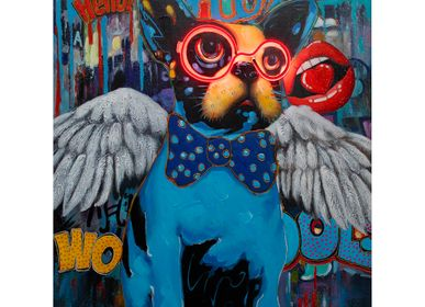 Paintings - 'Dog with Wings' Wall Artwork - LED Neon - LOCOMOCEAN