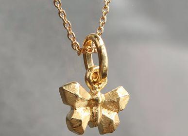 Bijoux - Collier petit papillon origami en argent plaqué or de byNebuline - BYNEBULINE