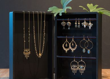 Jewelry - Gold plated earrings and necklaces with gemstones - ZENZA
