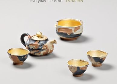 Decorative objects - NEOUL-Gold Teapot set - DOJA IHN