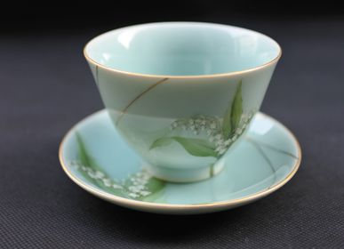 Ceramic - Celadon Valley Lily, Tea Bowl - YUKO KIKUCHI