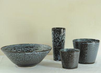 Céramique - Série de vases et une grande coupe (38 cm), double émaillage - CHRISTIANE PERROCHON