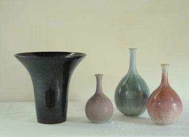 Céramique - Vases en grès (20-40 cm), émaux cristallisés - CHRISTIANE PERROCHON