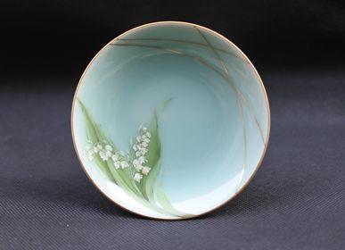 Ceramic - Celadon Lily of the valley, Saucer/Serving plate - YUKO KIKUCHI