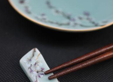 Ceramic - Celadon Plum blossom, Chopstick rest - YUKO KIKUCHI