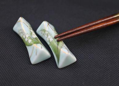 Ceramic - Celadon Lily of the valley, Chopstick rest - YUKO KIKUCHI