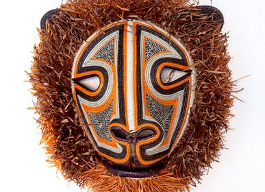 Decorative objects - Fuzzy Cat Embera Mask - RAINFOREST BASKETS
