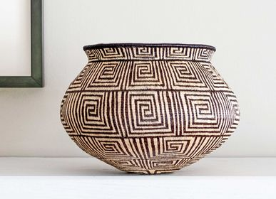 Decorative objects - Thin Greek Keys Motif Wounaan Basket - RAINFOREST BASKETS