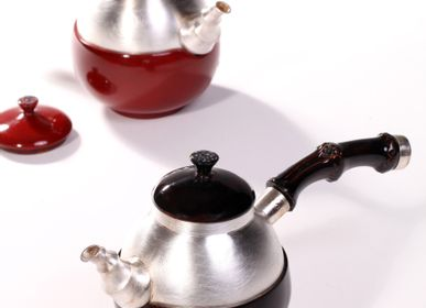 Design objects - Silver Tea Pot (Red, Black) - YOUTH GALLERY