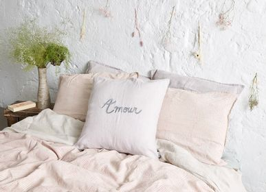 Bed linens - Ecorce Duvet Cover - Printed washed linen 240 x 220 cm - CONSTELLE HOME