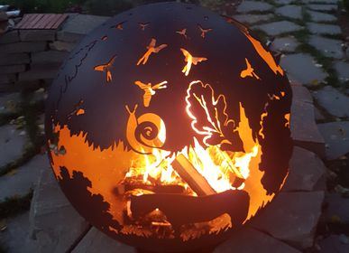 Outdoor fireplaces - The Hedgehog in the Fog / Fire pit orb - FIRECUP