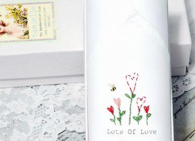 Scarves - Hand embroidered ladies handkerchief - Box of one - TAMIELLE HANDKERCHIEFS