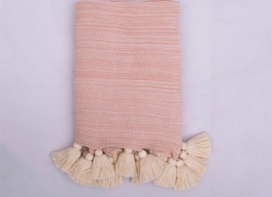 Throw blankets - MARLEY TASSEL - KANODIA GLOBAL (P) LTD