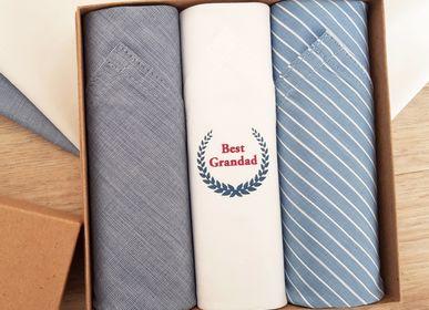 Scarves - Mens Handkerchiefs - gift set of 3 - TAMIELLE HANDKERCHIEFS