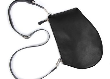 Bags / totes - Zip Maxi Black - Black leather bag with removable shoulder strap - MLS-MARIELAURENCESTEVIGNY