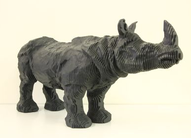 Sculpture - Rhinoceros strata - MICHEL AUDIARD