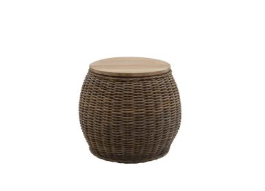 Outdoor fabrics - Round side table / Stool Bongo - BONG0471 - IL GIARDINO DI LEGNO