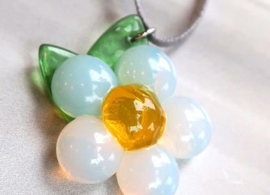 Jewelry - Handmade flower glass necklace from byNebuline Limpid collection - BYNEBULINE