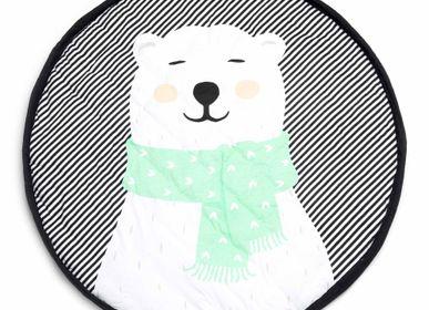 Decorative items - 3 in 1 playmat with lovely polar bear print from Play&Go. - PLAY&GO