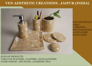 Set de bureaux - Recycled & Reclaimed Stone Office/Home Desk Accessories  - VEN AESTHETIC CREATIONS