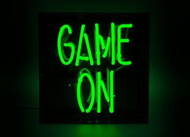 Decorative objects - 'Game On' Acrylic Box Neon Light - LOCOMOCEAN