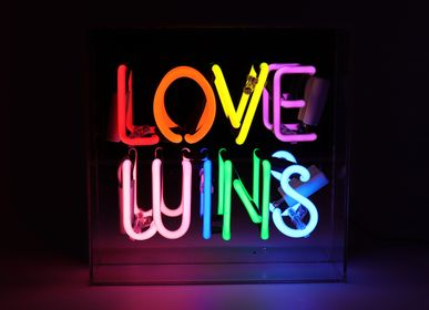 Decorative objects - 'Love Wins' Acrylic Box Neon Light - LOCOMOCEAN