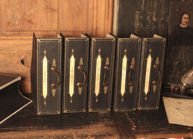 "Organizer - ""Filing-Cabinet"" folding storage box with handle - MERCI LOUIS"